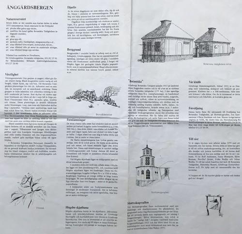 Göteborg 1990 Karte Änggardsbergen Beschreibung
