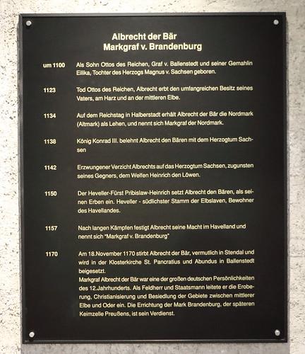 Ballenstedt, Schloss, Albrecht der Bär, Info