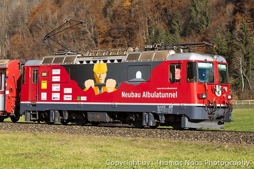 Rhätische Bahn (RhB), 629 : Neubau Albulatunnel