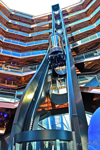 The Elevator Inside The Vessel at Hudson Yards Manhattan New York City NY P00723 DSC_2161