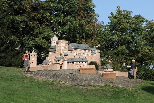 Modell der Burg Anhalt im Selketal
