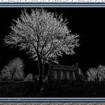 Kirkford Church And Cemetery Scotland by JOHN REDDINGTON