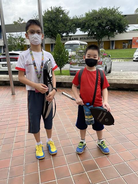 Ethan's first badminton class