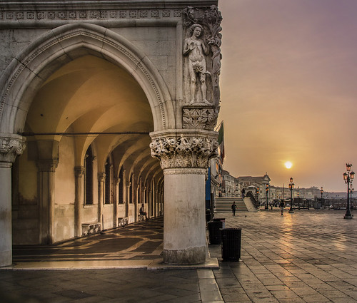 Walking the Sun Through the Arch