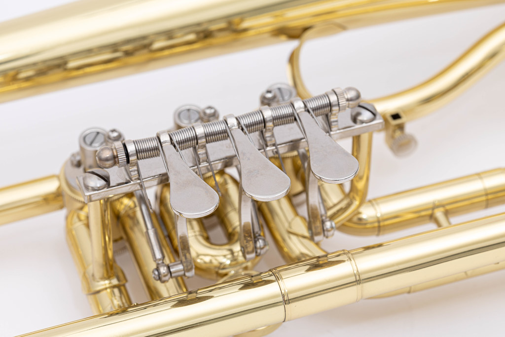 Trumpet buttons closeup image