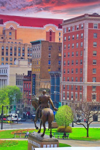 New York State Capitol ~ Albany New York ~ Major General Philip H Sheridan  ~  Equestrian Statue