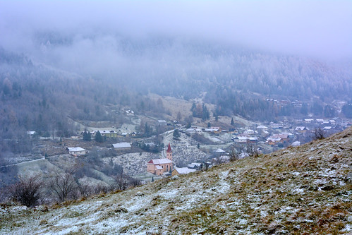 this morning over the village