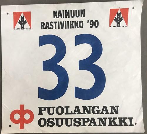 Kainuun Rastiviikko 1990 Startnummer