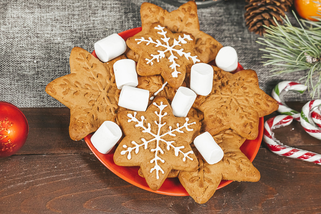 Christmas sweets and gingerbread on the table