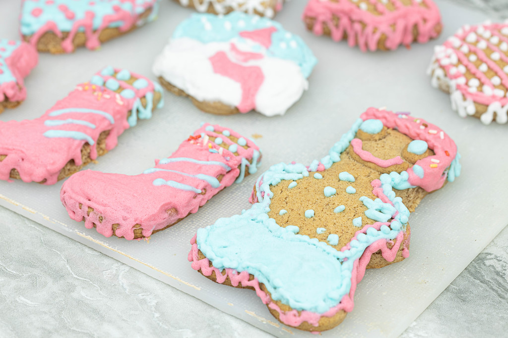 Colorful Christmas Cookies in different shapes