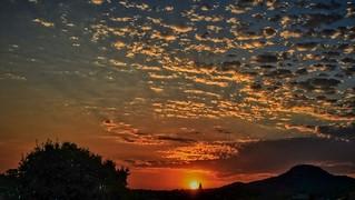 Sunset sur Aubagne vu de mon balcon...