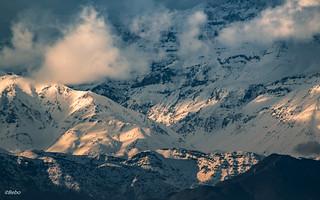 Cordillera de Los Andes en Invierno