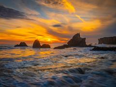 Malibu Beach Sunset El Matador State Beach Fuji GFX100 Fine Art Landscape Nature Photography California Seascape Ocean Art! Elliot McGucken Master Medium Format Nature Photographer Fuji GFX 100 & FUJIFILM  FUJINON GF 32-64mm f/4 R LM WR Lens !