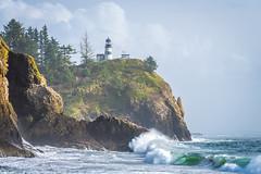 Cape Disappointment Storm Surge Waves Sunset Fuji GFX100 Fine Art Landscape Nature Photography Washington State Seascape Ocean Art! Elliot McGucken Master Medium Format Nature Photographer Fuji GFX 100 & FUJIFILM  FUJINON GF LM WR Lens !