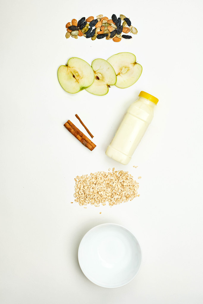 Fruits and oatmeal based healthy weightloss dieting yogurt ingredients