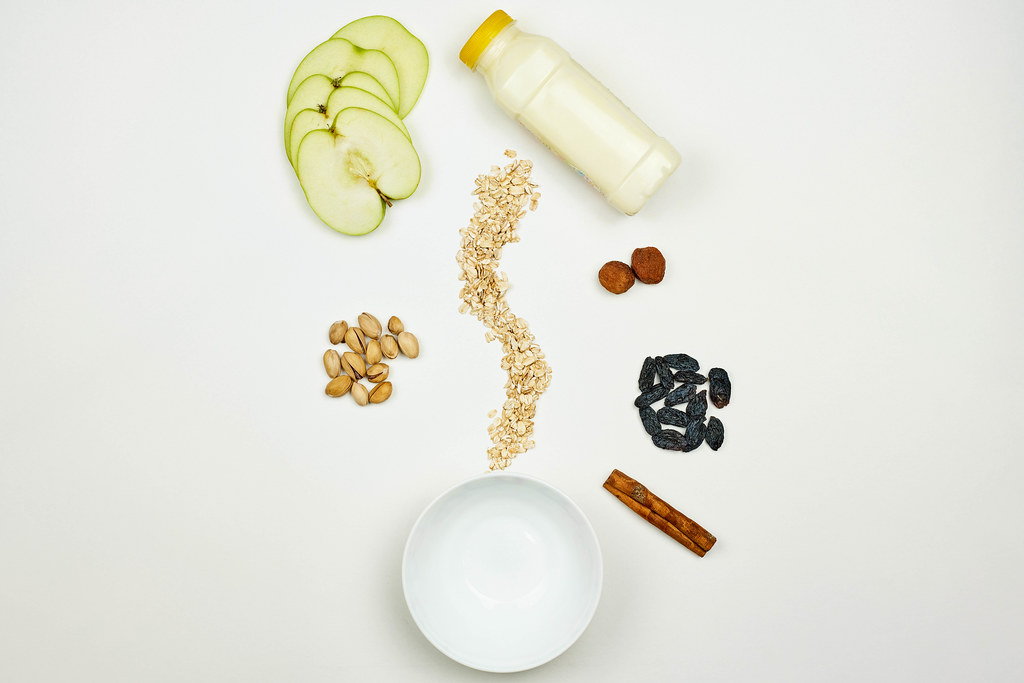 Gluten-free smoothie ingredients on the table