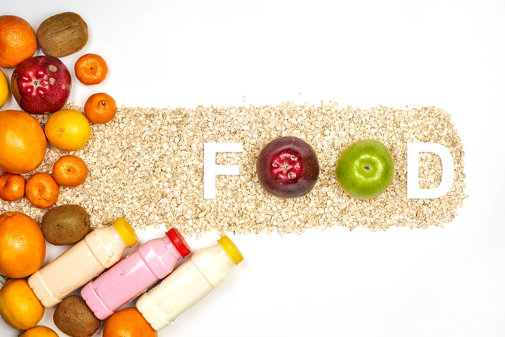 Food - written with apple fruits