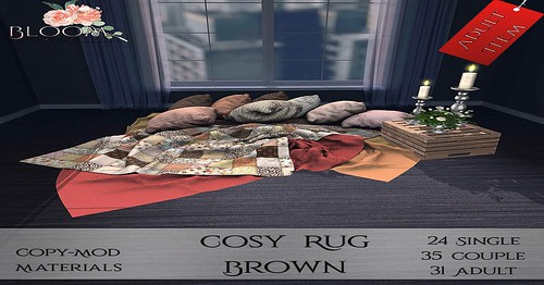 New Cosy Rug Available in 3 Colors at Bloom! Furniture and Decor! Comes in PG & Adult!