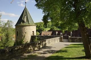 Germany, Kloster Bebenhausen, Wehrturm im Vorgarten ,  76991/13205