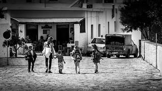 Leaving School in Chora