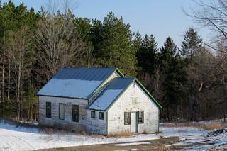 Former Darling Township Hall (pre 1879) in Tatlock, Township of Darling in Lanark County, Ontario