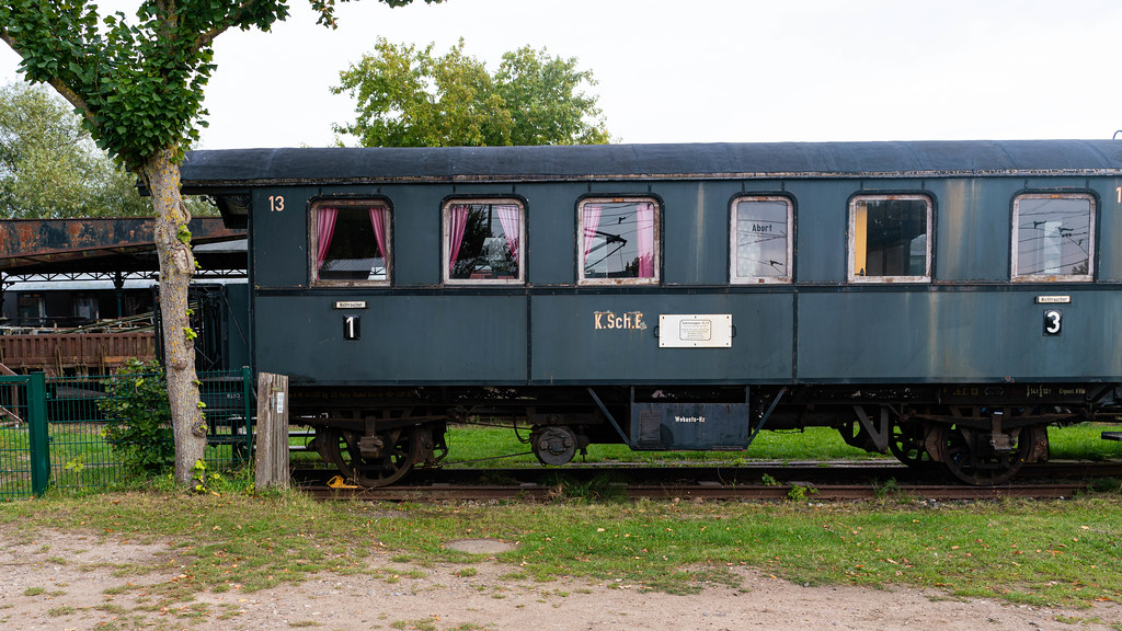 Old German train carriage number 13 – side view