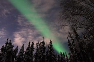 Aurora Through the Clouds