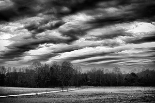 Storm Over Winter Meadow