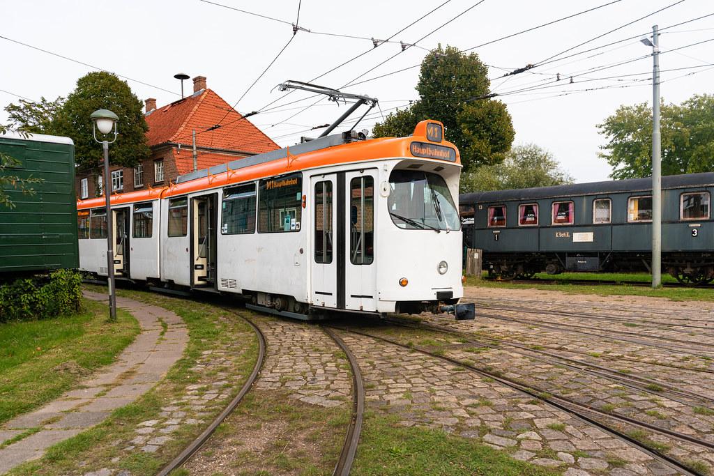 Retro German train still running on M1 route near Kiel