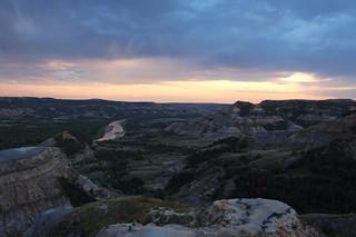 River Bend Sunset - Theodore Roosevelt National Park, North Dakota