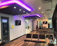 Futuristic lighting at Fresca Dental Dallas TX