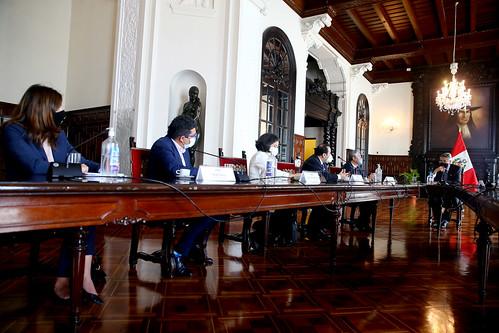 Presidente Francisco Sagasti sostuvo una reunión con delegación oficial de la Comisión Interamericana de DD. HH.