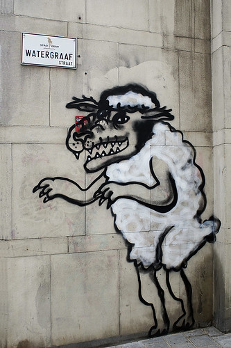 'A wolf in sheep's clothing', Street Art Ghent, Belgium