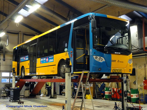 2016 Scania K280UB Lahti Arriva 1001 gets workshop attention