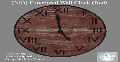 New Functional Wall Clock in Red Subscriber Gift for December at Magnum Opus!