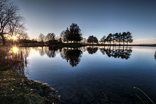 BLUE HOUR AT THE POND