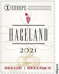 17 Wijnblad timbre C©