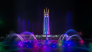 QC memorial circle fountain