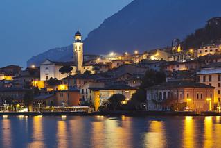 Limone sul Garda at night