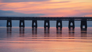 Tay Railway Bridge Sunset.