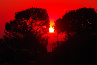 Fire Raged California Sunrise