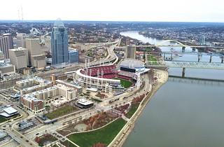 Bird's eye view of Reds Stadium