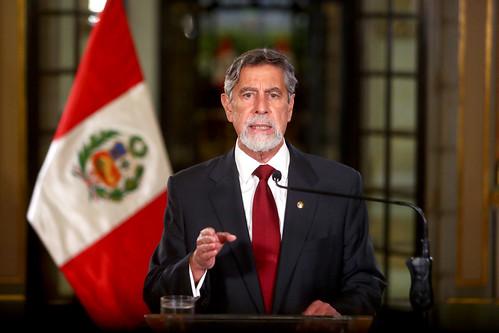 Presidente Francisco Sagasti brinda mensaje a la Nación.