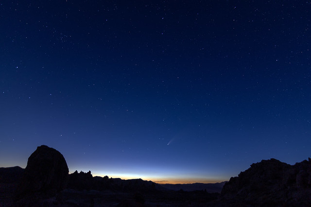 Photo:Comet NEOWISE from Trona Pinnacles By RuggyBearLA