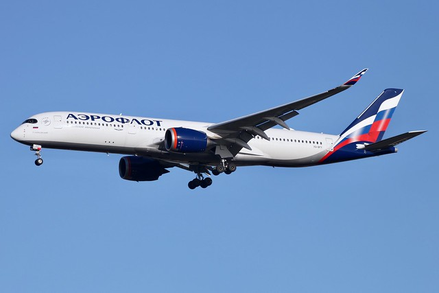 Photo:VQ BFY A350-900 Aeroflot LHR 1.12.20 By Colin Cooke Photo