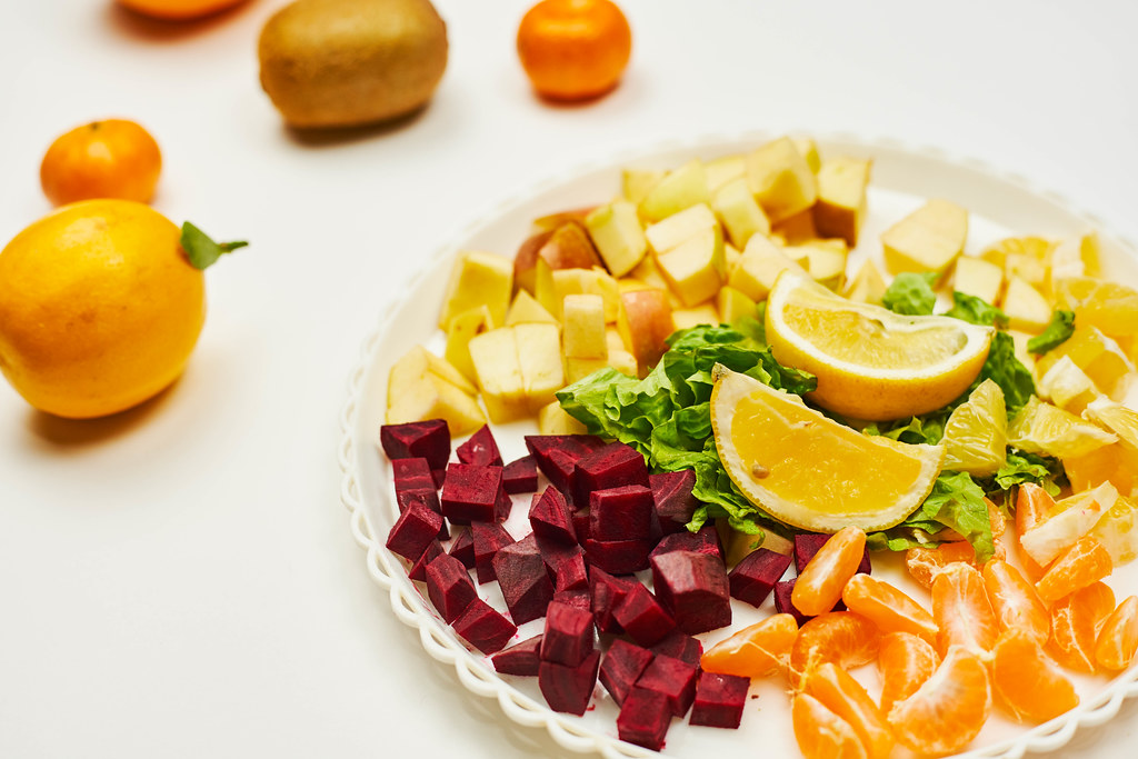 Healthy and tasty fruits and vegetables
