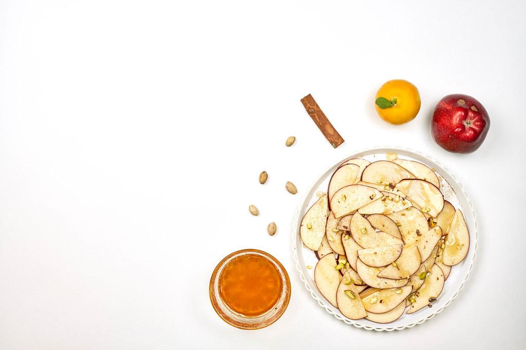 Fruits and honey based detox meal on white