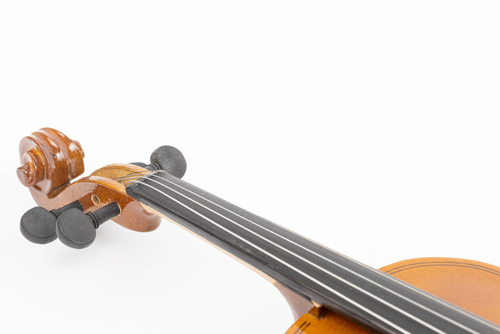 Violin Neck isolated above white background with copy space