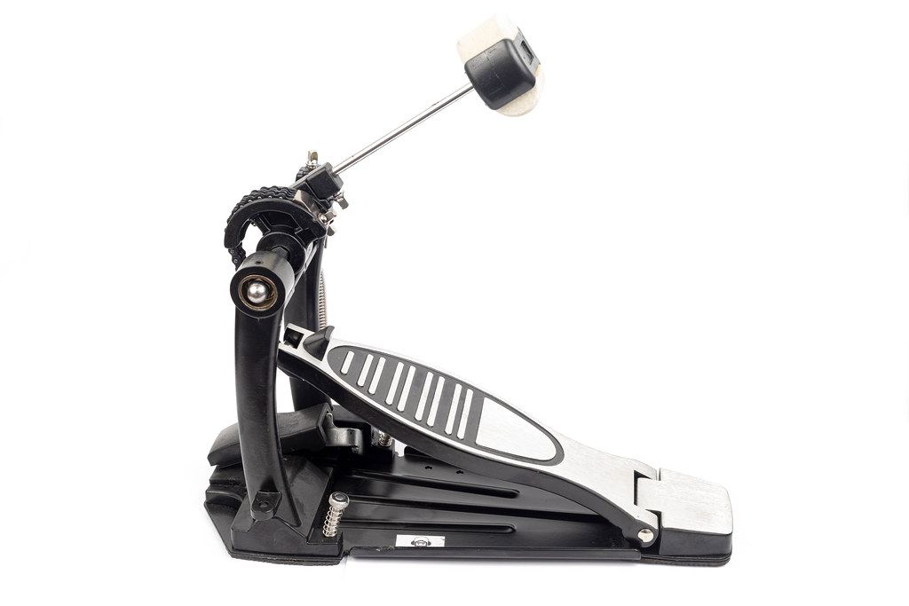 Kick Drum Pedal for a bass drum isolated above white background