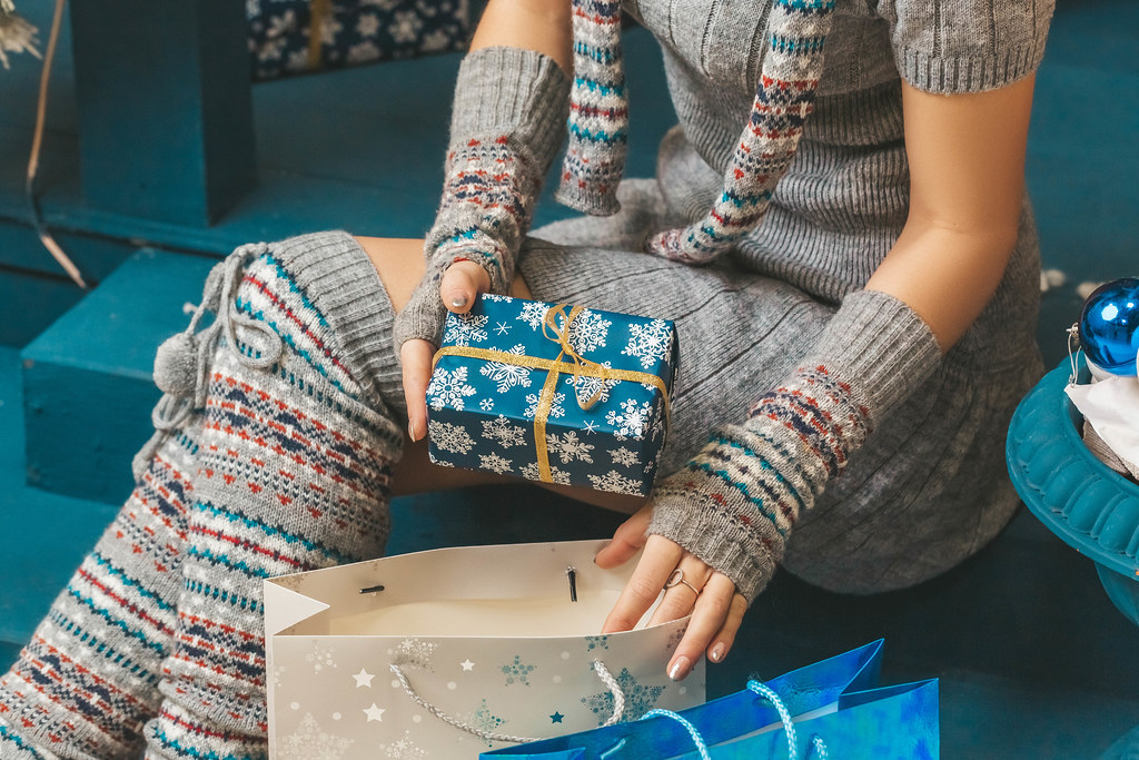 The concept of wrapping gifts before christmas